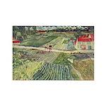 Van Gogh Farm Fields Rectangle Magnet