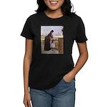 Parisian Mother and Child Women's Dark T-Shirt