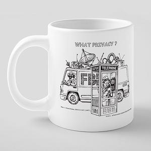 Privacy Wraparound 20 oz Ceramic Mega Mug