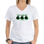 Recycled Cane Corso Women's V-Neck T-Shirt
