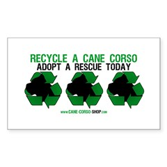 Recycled Cane Corso Rectangle Decal