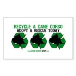 Recycled Cane Corso Rectangle Sticker