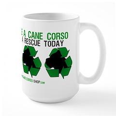 Recycled Cane Corso Large Mug