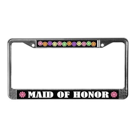 Maid Of Honor License Plate Frame