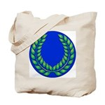 Blue with green laurel Tote Bag