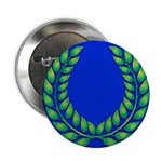 Blue with green laurel Button