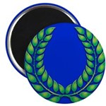 Blue with green laurel Magnet