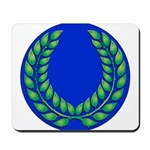 Blue with green laurel Mousepad