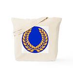 Blue with gold laurel Tote Bag