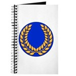 Blue with gold laurel Journal