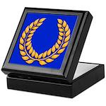 Blue with gold laurel Keepsake Box