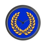 Blue with gold laurel Wall Clock