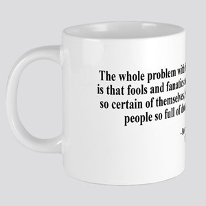 russell quote 2 black text. 20 oz Ceramic Mega Mug
