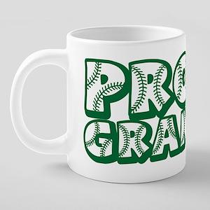 PROUD Grandpa, green 20 oz Ceramic Mega Mug