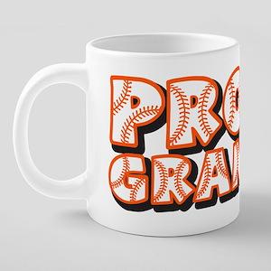 PROUD Grandpa, orange 20 oz Ceramic Mega Mug