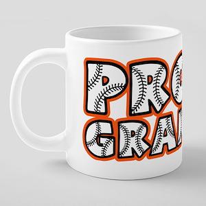 PROUD Grandpa, blackorange2 20 oz Ceramic Mega Mug