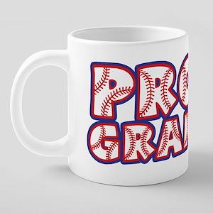 PROUD Grandpa, RWB2 20 oz Ceramic Mega Mug