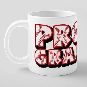 PROUD Grandpa, red 20 oz Ceramic Mega Mug