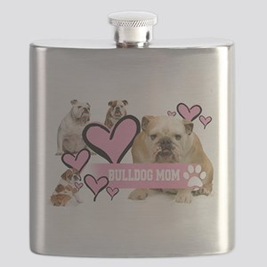 English Bulldog Mom Flask