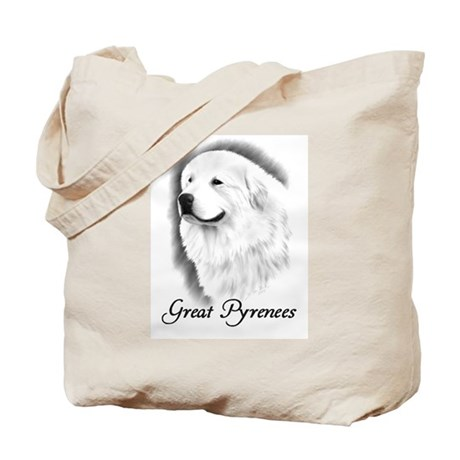 Great Pyrenees Headstudy Tote Bag
