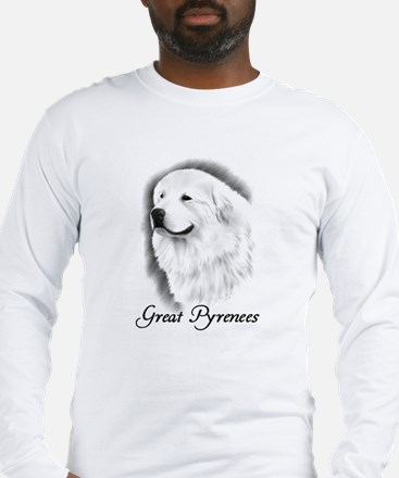 Great Pyrenees Headstudy Long Sleeve T-Shirt