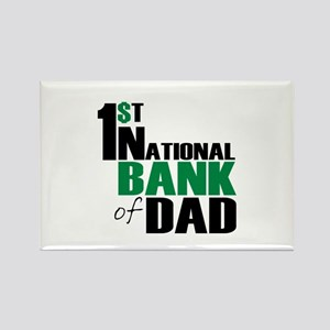 Bank of Dad Rectangle Magnet