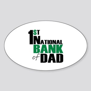 Bank of Dad Oval Sticker