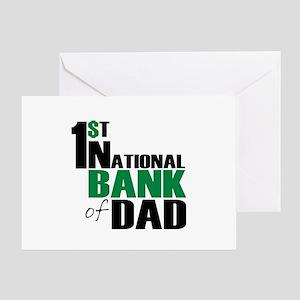Bank of Dad Greeting Card