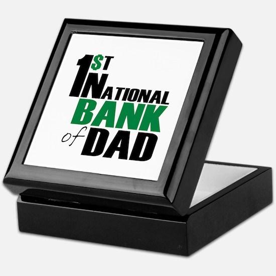 Bank of Dad Keepsake Box