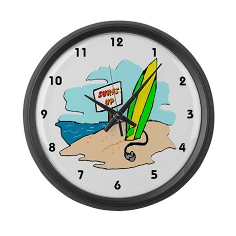 Surf's Up Large Wall Clock