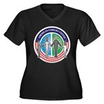 AFU Women's Plus Size V-Neck Dark T-Shirt