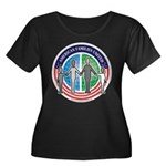 AFU Women's Plus Size Scoop Neck Dark T-Shirt