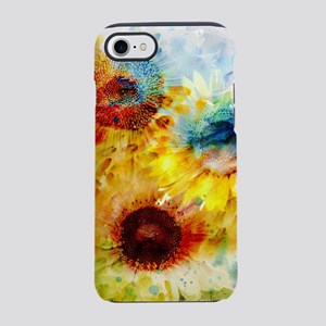 Watercolor Sunflowers iPhone 7 Tough Case