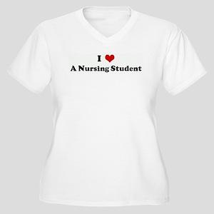 I Love A Nursing Student Women's Plus Size V-Neck