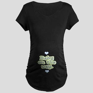 Baby On The Way Maternity Dark T-Shirt