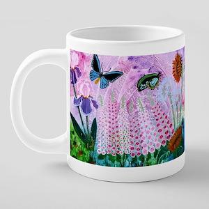 Birdwing on African Lily 20 oz Ceramic Mega Mug