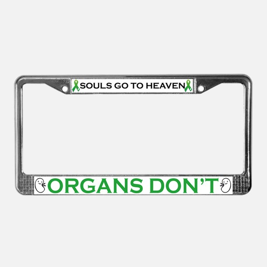 Cute Donation License Plate Frame