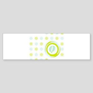 """Monogrammed """"Q"""" Bumper Sticker"""
