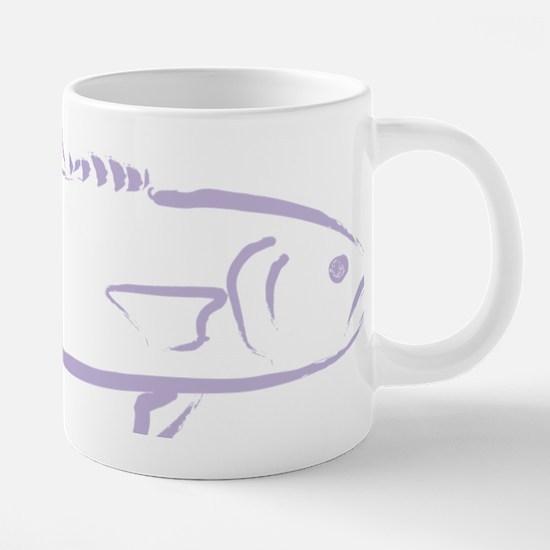 Bluefish in Light Purple.pn 20 oz Ceramic Mega Mug