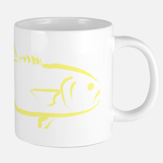 Bluefish in Light yellow.pn 20 oz Ceramic Mega Mug
