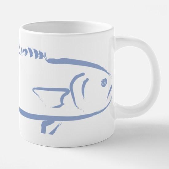 Bluefish in light blue.png 20 oz Ceramic Mega Mug