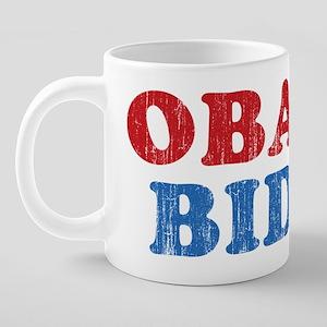 Obama Biden Grunge 20 oz Ceramic Mega Mug