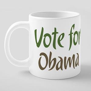 Vote For Change Obama + Bid 20 oz Ceramic Mega Mug