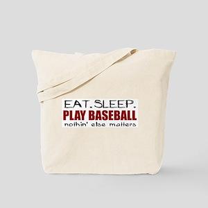 Eat Sleep Play Baseball Tote Bag