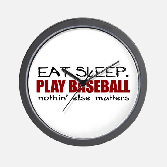 Eat Sleep Play Baseball Wall Clock