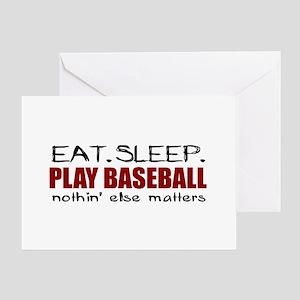 Eat Sleep Play Baseball Greeting Card