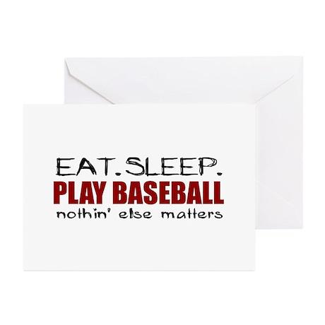 Eat Sleep Play Baseball Greeting Cards (Pk of 10)