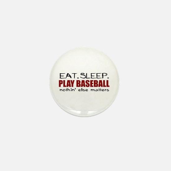 Eat Sleep Play Baseball Mini Button