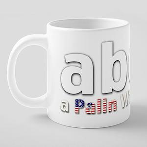PalinWHITEf 20 oz Ceramic Mega Mug