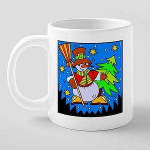 Snowman Mug, final 20 oz Ceramic Mega Mug